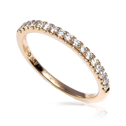 Anillo oro rosa diamantes B01101815