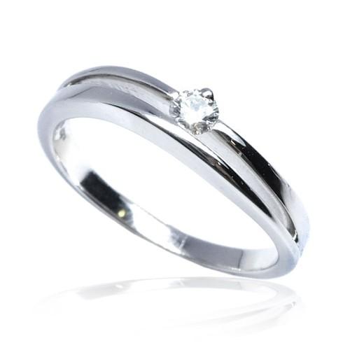 Solitario oro blanco y diamante B01101860