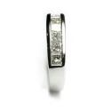 Anillo compromiso de oro blanco con diamantes B01101807