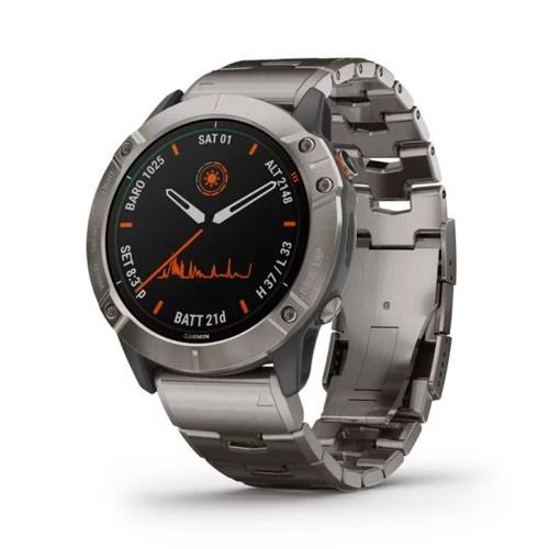Reloj Garmin Fénix 6X Pro Solar Titanium con correa de titanio 010-02157-24