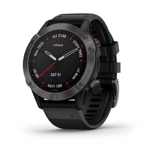 Reloj Garmin Fénix 6 Zafiro Gris Carbón con correa negra 010-02158-11