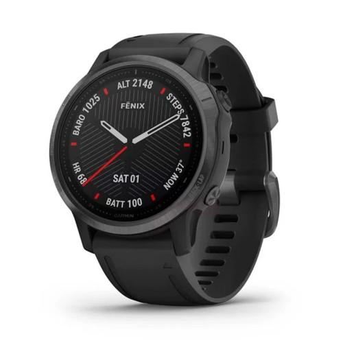 Reloj Garmin Fénix 6S Zafiro Gris carbón DLC correa negra 010-02159-25
