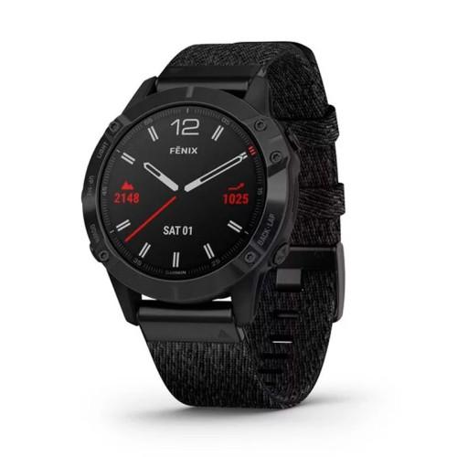 Reloj Garmin Fénix 6 Zafiro Negro DLC correa nylon 010-02158-17