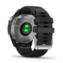 Reloj Garmin Fénix 6 Plata negro correa negra 010-02158-00