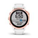 Reloj Garmin Fénix 6S Pro Rose Gold Blanco con correa blanca 010-02159-11