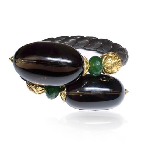 Pulsera plata dorada y piedras semipreciosas 2046100.00001 GM