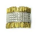 Anillo oro bicolor y brillantes b01100963