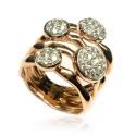 Anillo oro rosa y diamantes B01101737