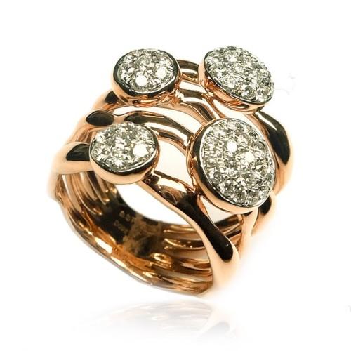 Sortija de oro rosa y diamantes B01101737