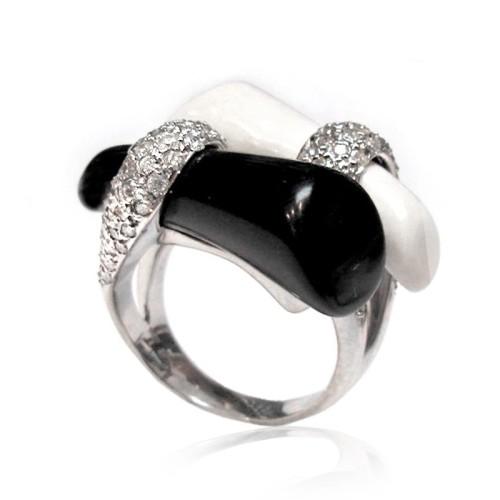 Anillo oro blanco y diamantes. G01100524