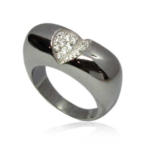 Anillo oro negro y diamantes. B01100335