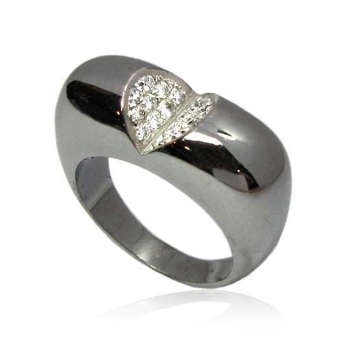 Sortija de oro negro y diamantes. B01100335