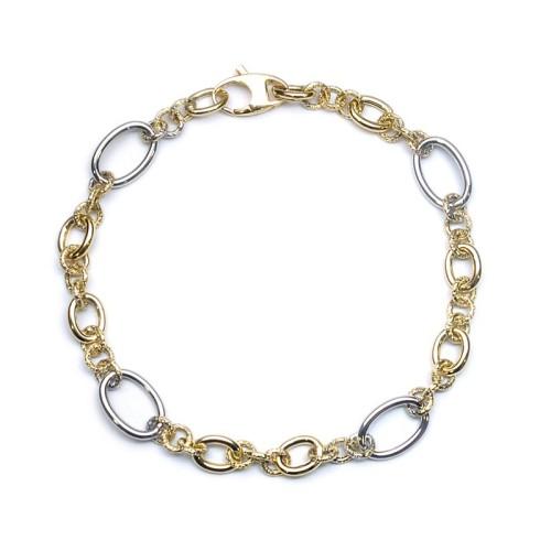 Pulsera oro amarillo y oro blanco C00400451