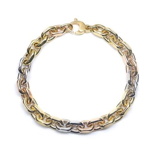 Pulsera oro amarillo, oro rosa y oro blanco C00500024