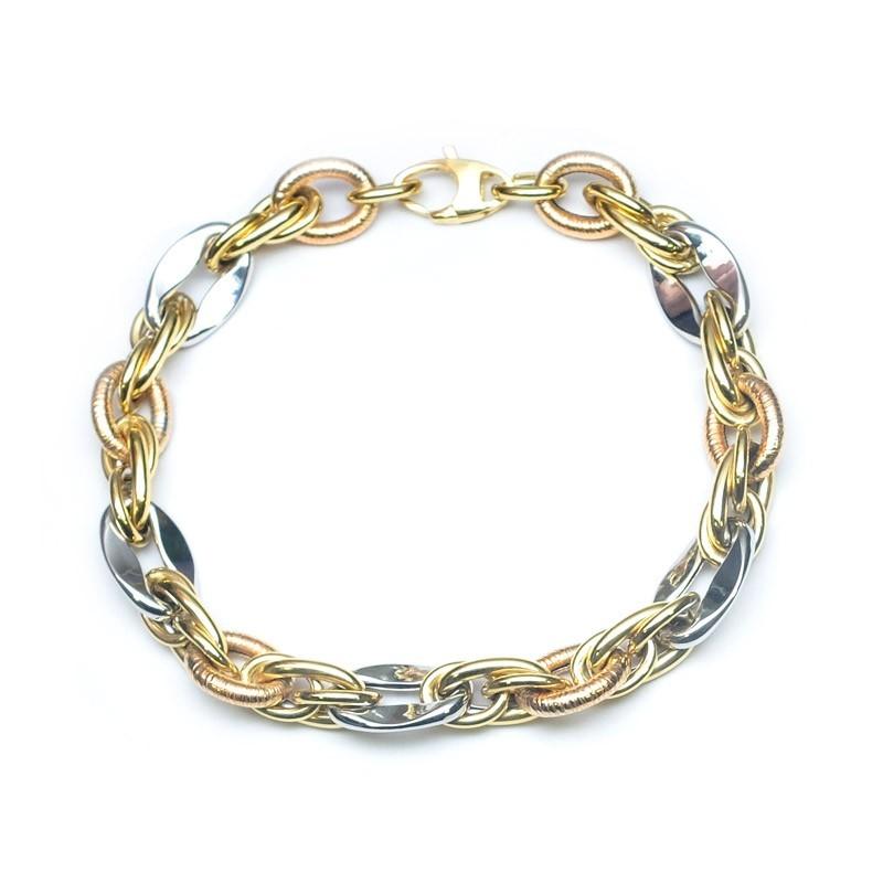 Pulsera oro amarillo, oro rosa y oro blanco C00500027