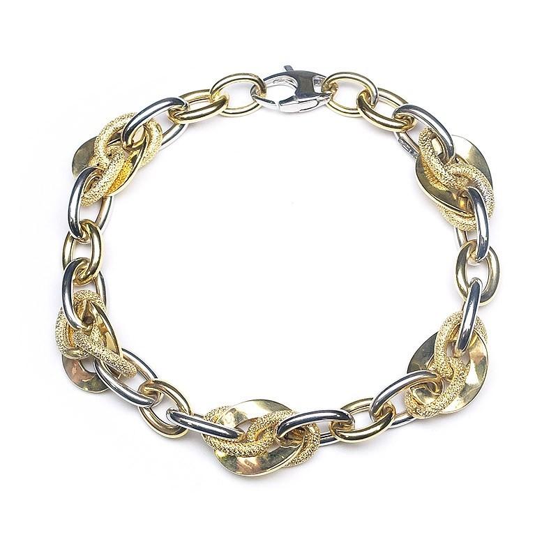 Pulsera oro amarillo y oro blanco C00400425