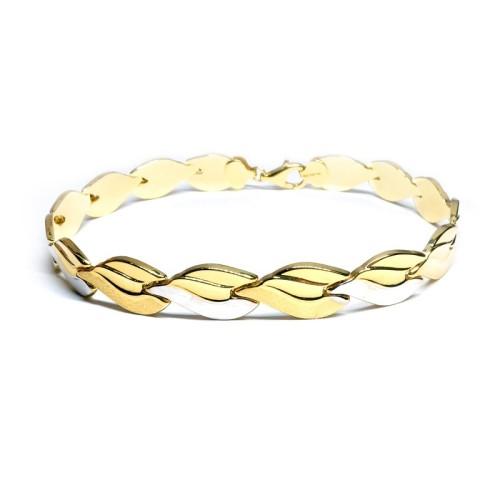 Pulsera oro amarillo y oro blanco C00400458