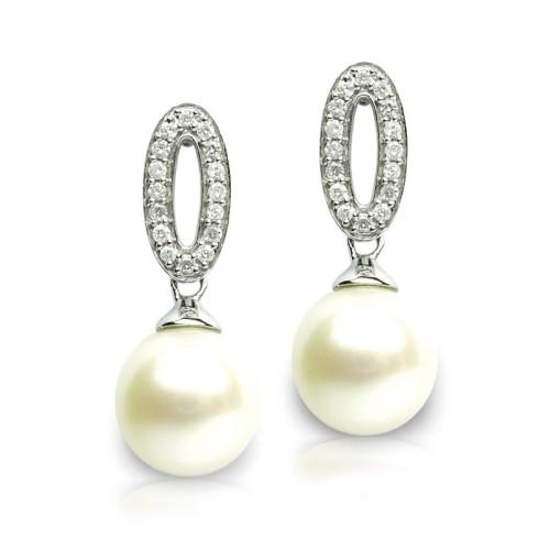 Pendientes Oro Blanco y Perlas G52700002