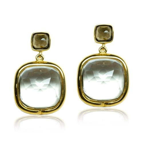 Pendientes oro amarillo y piedras semipreciosas G07200079