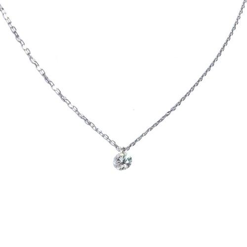 Collar oro blanco y diamante de 0,07 J0110422