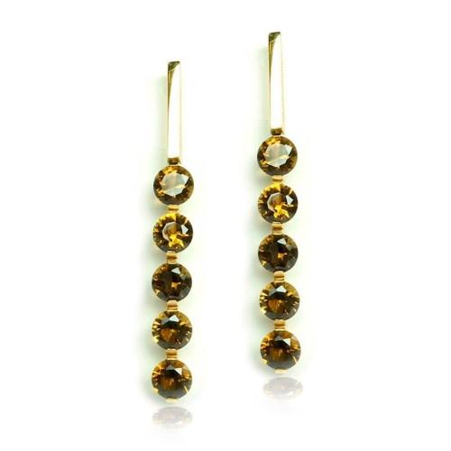 Pendientes oro amarillo y piedra semipreciosa G06220013