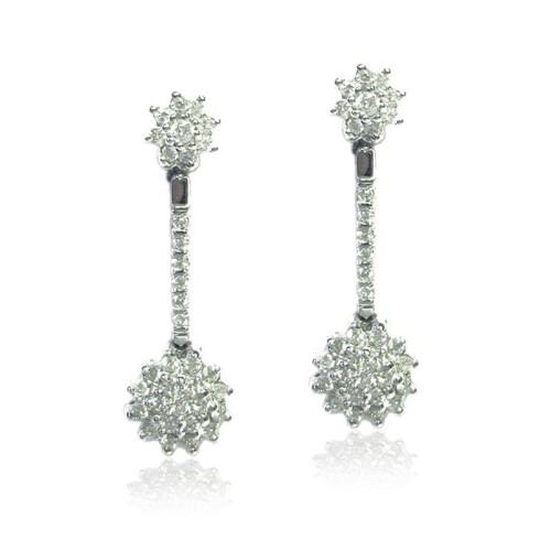 Pendientes oro blanco y diamantes G01120154