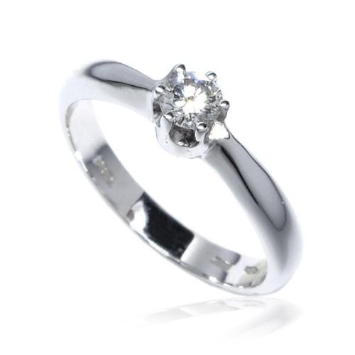 Anillo Compromiso Solitario oro blanco y diamante B01101575