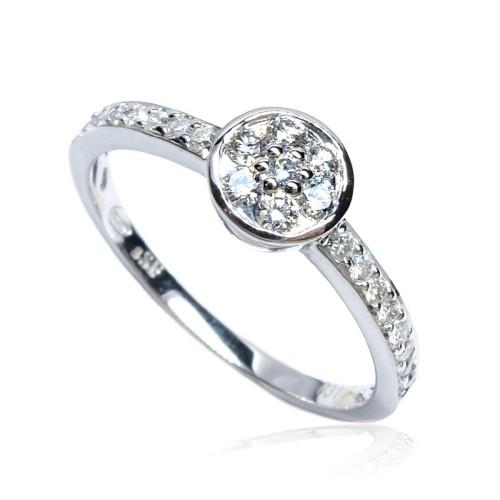 Anillo Compromiso Solitario oro blanco y diamantes B01101829