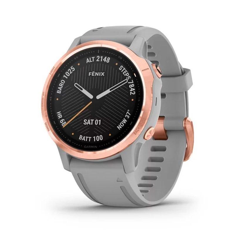 Reloj Garmin Fénix 6S Zafiro Rose Gold correa gris 010-02159-21