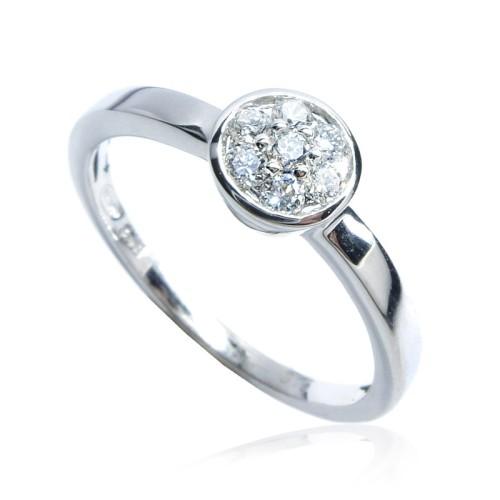 Anillo Compromiso Solitario oro blanco y diamantes B01101836
