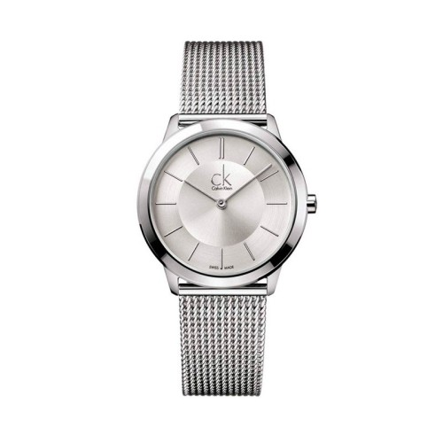 Reloj Calvin Klein Minimal Plateado 35mm K3M22126