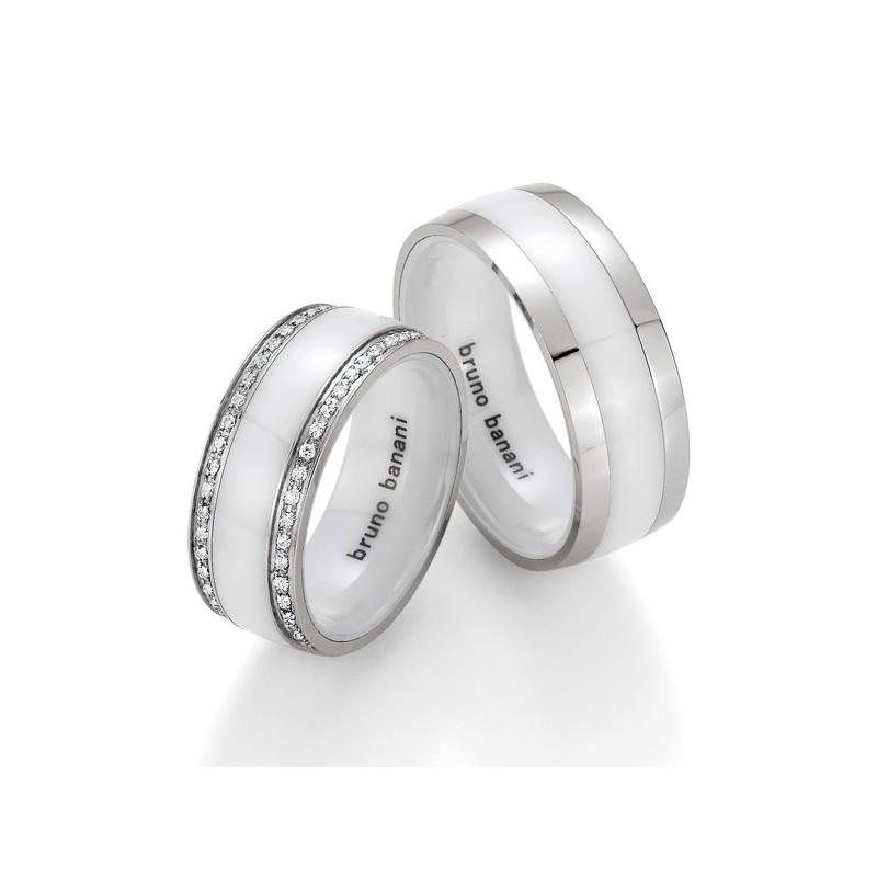 Alianzas de acero y cerámica Bruno Banani 84173