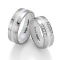 Alianzas de acero y cerámica Bruno Banani 84174