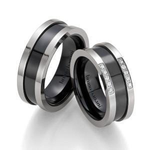 Alianzas de acero y cerámica Bruno Banani 84175