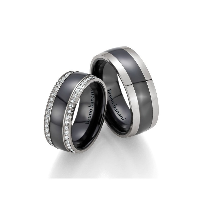 Alianzas de acero y cerámica Bruno Banani 84176