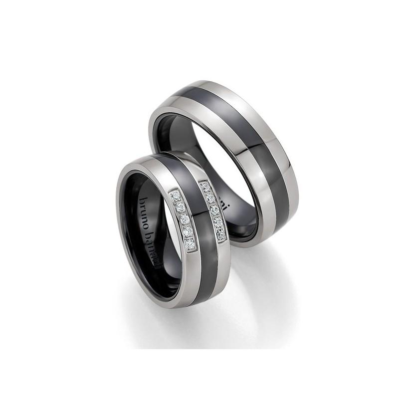 Alianzas de acero y cerámica Bruno Banani 84177