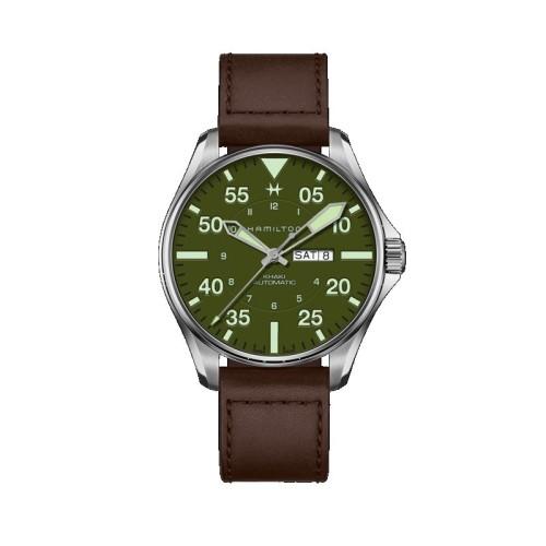 Reloj Hamilton Khaki Aviation Pilot Schott NYC - Limited Edition 46mm H64735561