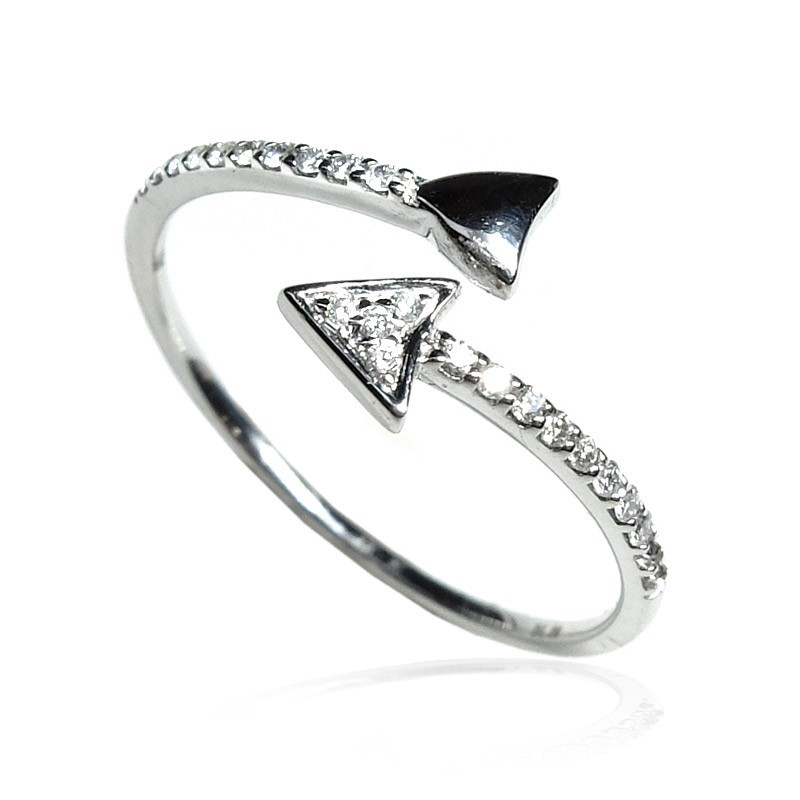 Anillo oro blanco y diamantes Flecha B01101884
