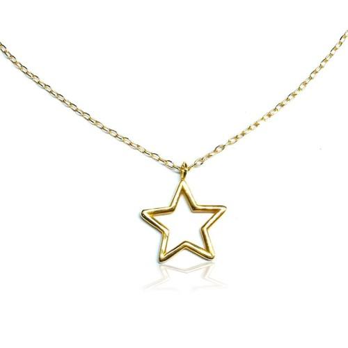 Colgante oro amarillo estrella J00100293