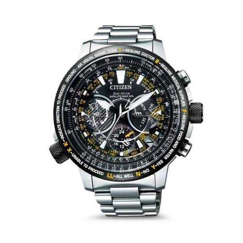 reloj CITIZEN ECO-DRIVE SATELLITE WAVE -GPS- SUPER TITANIUM ZAFIRO CHRONO CC7014-82E
