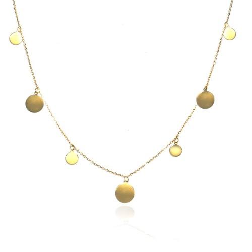 Collar oro amarillo círculos E00100219
