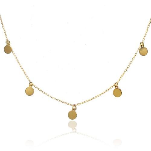 Collar oro amarillo círculos E00100221