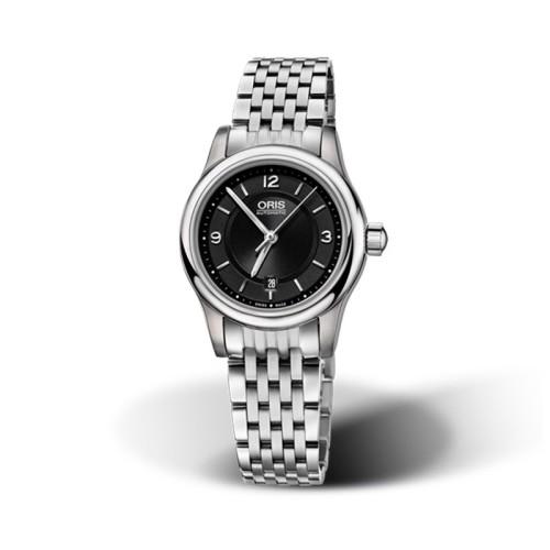 Reloj Oris Classic Date 28mm Esfera negra 01 561 7650 4034-07 8 14 61