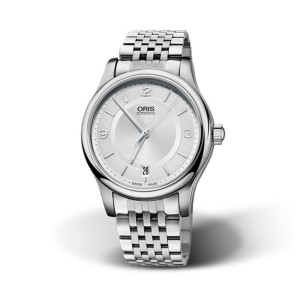 Reloj Oris Classic Date 37mm Esfera Gris 01 733 7578 4031