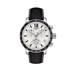 Reloj Tissot Quickster Chronograph T095.417.16.037.00 (Correa cuero y esfera blanca)