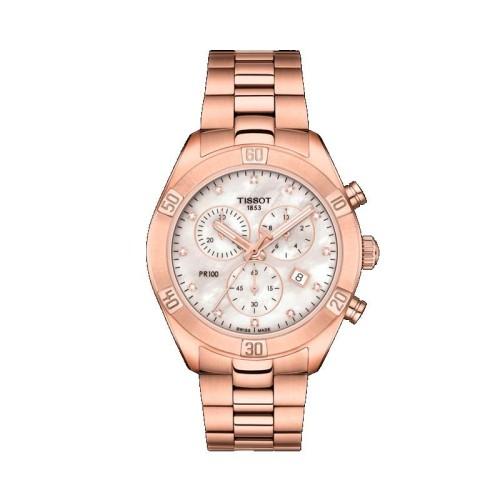 Reloj Tissot 38 mm T-Classic PR 100 Sport Chic Chrono T101.917.33.116.00