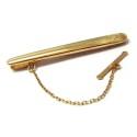 Pasador de corbata de oro amarillo liso M00100007