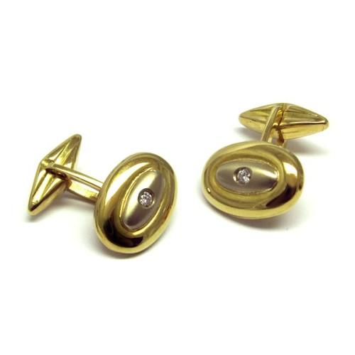 Gemelos ovalados de oro amarillo N01100013