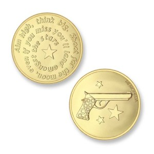 Moneda pequeña Aim High Pistola Mi Moneda MON-AIM-02-S