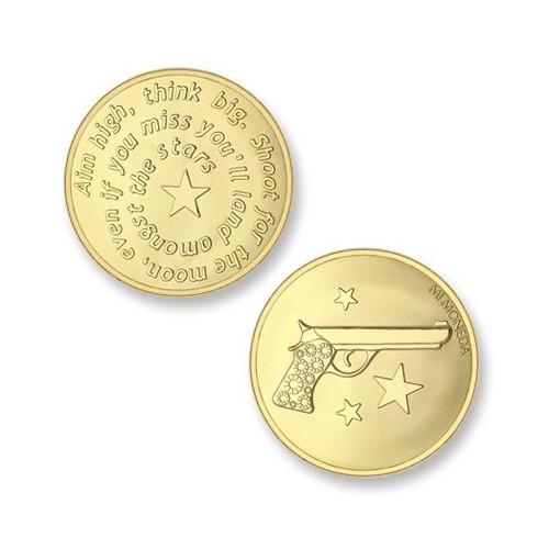 Moneda pequeña Aim High Pistola Mi Moneda MON-AIM-02-S